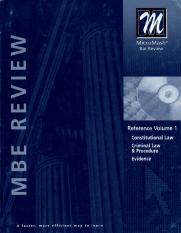 MBE Review Reference Volume 1