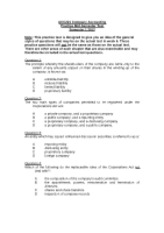 ACC221 Practice mid-semester test (S1 2012)
