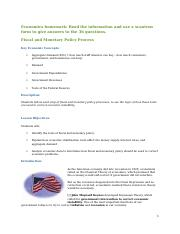 Fiscal and Monetary homework10 28 09.docx