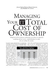 Managing your total IT cost of ownership