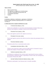 APHI 115 - Study Guide for 3rd Test