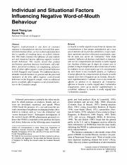 Individual and Situational Factors Influencing Negative Word-of-Mouth Behaviour.pdf