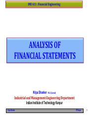 IME611 - 3.1 Analysis of Financial Statements
