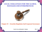 Chapter19 Legal Challenges