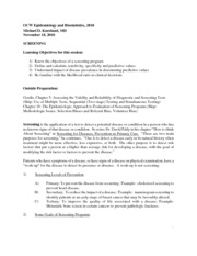 Epidemiology and Biostatistics Lecture Notes  8