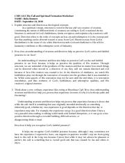 CMN 1213 The Fall and Spiritual Formation Worksheet.docx