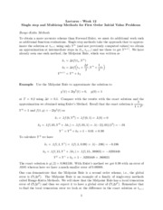Study Guide on Single Step and Multistep Methods for Initial Value Problems