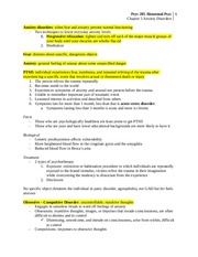 CH 5 Anxiety Disorder Notes