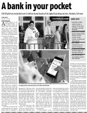 BANKING - TECHNOLOGY - A BANK IN YOUR POCKET (BUSINESS STANDARD, 06-10-2015, PAGE 12).pdf