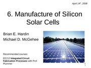 6.+Silicon+Solar+Cell+Manufacturing
