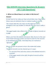 Ssrs Interview Questions And Answers Pdf