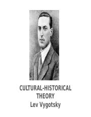 Lecture 9_CHAT & Vygotsky & Education