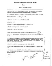 Test 3 & Solutions