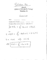 Quiz 9-Areas Under Curves and Solving Second Derivatives-Solutions