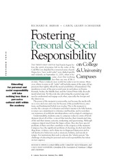 Fostering Personal and Social Responsibility
