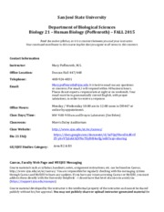 Bio 21 Fall 15 Accessible Syllabus
