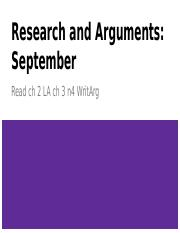 Research and Arguments: September.pptx