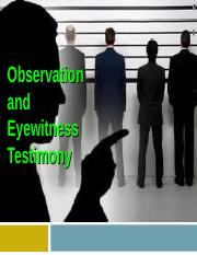 Observation and Memory.ppt