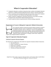 What is Cooperative Education