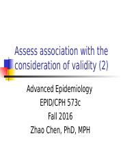 4.1Assess associaiton with the consideration of validity and confounding
