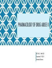 Lecture_33_Pharmacology of Drug Abuse II.pdf