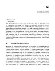 Ravenscroft - Behaviorism and functionalism