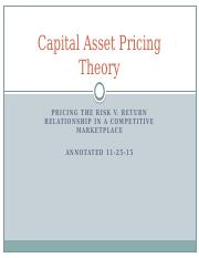 Capital Asset Pricing Theory(11-24-15).pptx