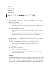 Summary and Analysis Brexit