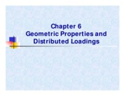 CV2101 Chapt 6 - Geometric Properties and Distributed Loadings