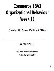 1BA3 Week11 power, politics and ethics.ppt