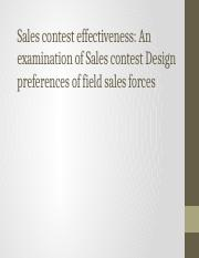 Sales contest effectiveness report.pptx