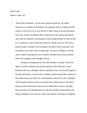 Womens Studies First Essay187