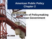Notes 3 - The Structure of Policymaking in American Government