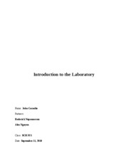 Introduction to  the Laboratory