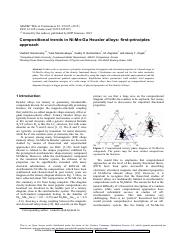 0- Compositional trends in Ni-Mn-Ga Heusler alloys first-principles approach.pdf