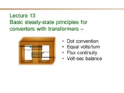 472 Lecture 13 Basic principles for converters with transformers