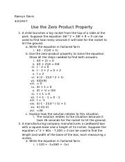 Use the Zero Product Property