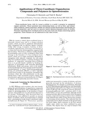 Applications of Three-Coordinate Organoboron