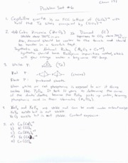 CHEM171 ProblemSet6Solutions