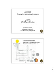 Lecture14 Wind Farm Design for Energy Infrastructual system