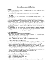 LS 182 Handout - How to Read and Brief a Case