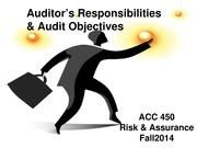 ACC 450 9 Auditor Responsibilities Fall 14