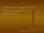 Protections Under the Bill of Rights