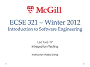 Lecture17 Integration Testing