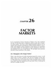 26 Factor Markets
