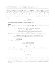 Equation of the tangent Assignment