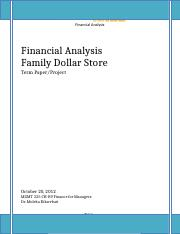 Financial analysis paper
