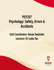 Lecture 8 - Predictors of Safety