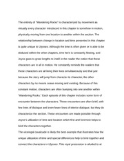 Essay on Wandering Rocks Episode 1