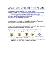 CS412 – MiniMP2 - Data Preprocessing